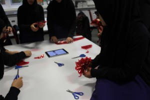 In Y9 and Y11 students put their artistic skills to good use and make poppies to mark Remembrance Day.